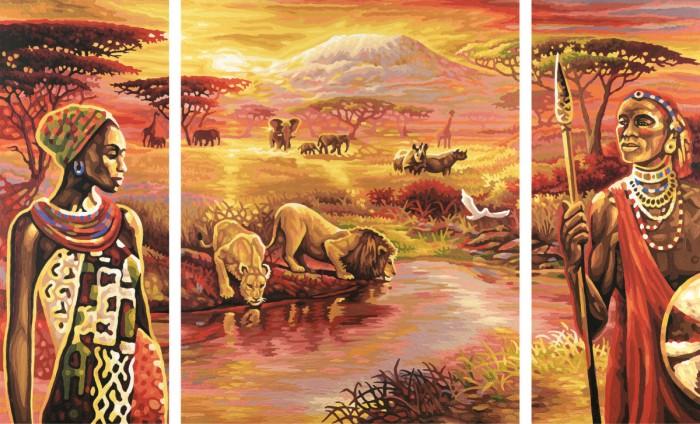 Schipper Картина по номерам Триптих Килиманджаро 50х80 смКартина по номерам Триптих Килиманджаро 50х80 смКартина по номерам Schipper Триптих Килиманджаро   Особенности:    Основа для картины имеет льняную структуру, поэтому готовая картина выглядит как настоящее произведение искусства.  Картина раскрашивается без смешивания красок.  Все необходимые цвета красок есть в комплекте. Просто закрашивайте участки красками с соответствующим номером.  В набор также входит фактурная картонная основа с пронумерованными контурами, кисть и контрольный лист, на котором вы можете потренироваться, прежде чем переходить к раскрашиванию основного листа.  Акриловые краски в данном наборе содержатся в очень плотно закрытых контейнерах. Благодаря этому, краски доходят до покупателя, сохранив свои свойства.   Кол-во цветов: 34 Размер: 50х80 см<br>