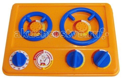 Игрушкин Плита МалюткаПлита МалюткаИгрушечная плита Малютка - это детская кухонная плита, которая очень понравиться маленькой хозяйке.   Яркая газовая двухконфорочная плита весьма компактна и проста в управлении.  Регуляторы конфорок и таймер крутятся, издавая характерный звук.  Набор для сюжетно-ролевых игр. Играя, дети в увлекательной форме обучаются многим реальным бытовым навыкам. Ведь готовить обеды и ужины для любимых кукол весело!  Размеры: 17х22х4 см<br>