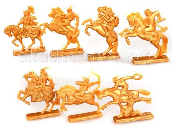 Игрушкин Фигурки воинов Золотая ОрдаФигурки воинов Золотая ОрдаФигурки воинов Золотая Орда - игрушки для настоящих мальчишек.   Армия превратит игру в серию героических подвигов.  В наборе 7 фигурок воинов.  Высота 7-8 см<br>