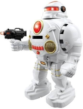 Интерактивная игрушка 1 Toy Электронный роботЭлектронный роботИнтерактивная игрушка 1 toy Электронный робот - удивительная игрушка, приведет в восторг любого мальчишку.   Имеет обтекаемую форму, футуристичный и яркий дизайн. Подвижные ноги и руки позволяют придать его телу любое положение. В движение робот приводится при помощи пульта дистанционного управления, который имеет большой радиус действия.   Данная модель игрушка активизирует познавательную и двигательную активность, развивает воображение, эмоциональный интеллект и мышление.<br>