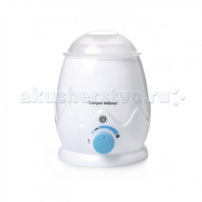Canpol Подогреватель для бутылочек 77/001Подогреватель для бутылочек 77/001Canpol Подогреватель для бутылочек 77/001 быстро и равномерно нагревает молоко, молочные смеси или детское питание.   Особенности: Чтобы нагреть 120 мл, ему понадобится всего 7 мин (при начальной температуре пищи — 20 градусов).  Подогревает замороженные продукты. Температуру можно регулировать плавно, благодаря чему удобно разогревать различные виды продуктов.  Есть фунции постоянной поддержки температуры и сигнализии о готовности пиши.  Подогреватель подходит для большинства бутылочек с узким и широким горлышком, а также для баночек с детским питанием.  Оборудован чашей для нагрева твердой пищи. Подогреватель имеет керамический нагревательный элемент, что увеличивает срок эксплуатации. Прибор очень прост в использовании: нужно лишь поставить в него бутылочку, залить необходимое количество воды и установить ручку на максимально высокую температуру. Лампочка загорится красным цветом — подогреватель нагревается. Она отключиться автоматически, когда вода нагреться до нужной температуры (лампочка включается и отключается показывая, что термостат контролирует заданную температуру). Первое отключение лампочки не означает, что еда разогрета до заданной температуры. Держите бутылочку в подогревателе необходимое количество времени указанное в подробной инструкции по эксплуатации.<br>