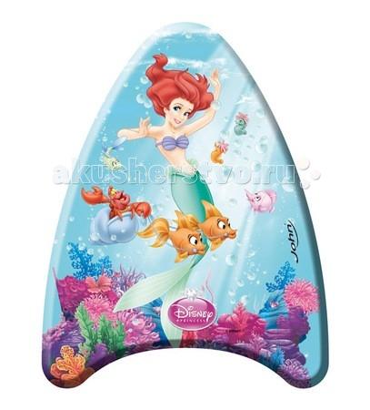 John Доска для плавания Принцессы 42 смДоска для плавания Принцессы 42 смДоска для плавания Принцессы 42 см John, с изображением принцесс из любимых диснеевских мультфильмов, понравится любой девочке.  С доской для плавания ваш ребенок сможет быстро научиться плавать, а любимые герои мультфильмов порадуют владельца.   Игрушка изготовлена из прочных и долговечных материалов, что способствует ее длительной службе.<br>