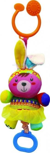 Подвесная игрушка Biba Toys Счастливые животныеСчастливые животныеБлагодаря большому количеству различных по фактуре и цветам тканевых вставок, сочетанию текстиля с пластиком и дополнительным игровым элементам игрушка будет способствовать всестороннему развитию малыша.  Мягкая велюровая игрушка  С прорезывателем, погремушкой С шуршанием, разными игрушечными элементами  Размер: 30.5х28х20 см<br>