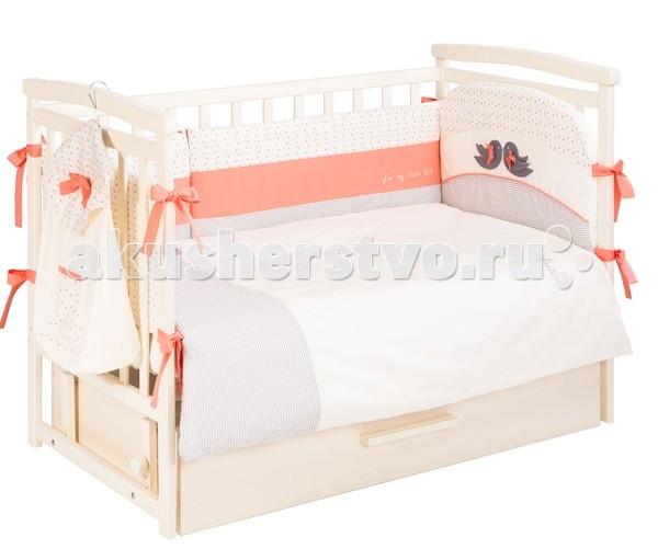 Комплект в кроватку Putti Baby Bird 120х60  (6 предметов)