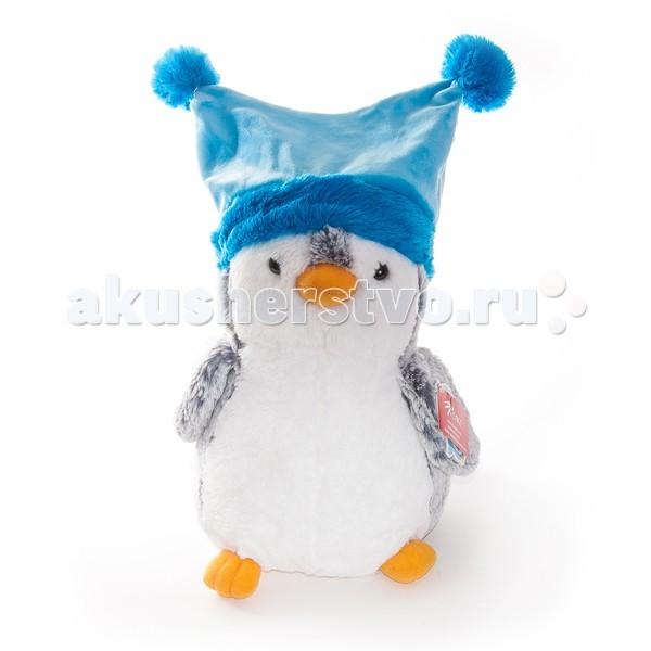 Мягкая игрушка Aurora Пингвин в синей шапке 30 см