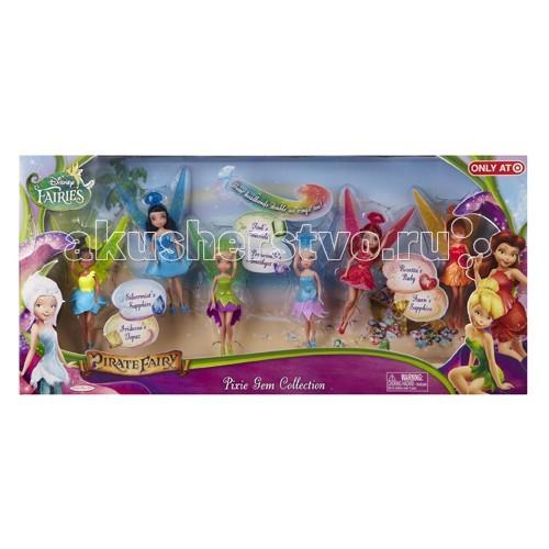 Disney Набор из 6 кукол Фея 11 см 688710Набор из 6 кукол Фея 11 см 688710Набор из 6 кукол Фея 11 см 688710  Все феи Дисней из мультфильма Загадка пиратского острова в одном наборе!   У каждой куколки феи красивое платье и шляпка в виде волшебного кристалла, подходящая по цвету.   В набор входят: Динь-Динь – фея-мастерица, Розетта – садовая фея, Иридесса – фея света, Серебрянка – фея воды, Фауна – фея животных и Незабудка – зимняя фея.  С этим набором малышка сможет разыграть любимые сцены из мультфильма и придумать новые приключения для дружной компании волшебных фей!  В наборе 6 фей Дисней. Высота каждой куколки 11 см.<br>