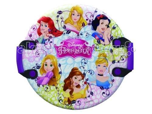 Ледянка Disney Принцессы 54 см круглаяПринцессы 54 см круглаяЛедянка Disney Принцессы 54 см круглая - для любителей зимних спортивных развлечений с героями любимого мультфильма.  Ледянка с ручками подарит много радостных моментов Вашему малышу.   Ледянка красочно оформлена с персонажами любимого фильма, она легкая, с двумя ручками.<br>