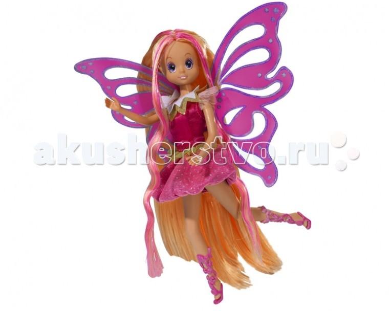 Simba Кукла Фея со столиком и украшениямиКукла Фея со столиком и украшениямиКукла Simba Dream Fairies Фея со столиком и украшениями - своя личная фея с нежными узорчатыми крылышками.    Особенности:    Прекрасные длинные волосы феи нуждаются в уходе, девочка сможет сделать своей любимице волшебную прическу.   Платье феи разноцветное и отлично подходит для бала.   Порхая над столиком с украшениями, фея с удовольствием подсказывает своей подружке, как лучше ухаживать за собой, какое украшение к какому наряду подойдет.   Столик яркий привлекательный, станет украшением комнаты маленькой принцессы.   На розовой подставке находится большое зеркало с узорами из завивающихся цветов, которое его обрамляют. Округлая форма приятна глазу.   Рядом с зеркалом располагаются не менее интересные вещи – это шкатулочка для украшений зеленого цвета, а также разнообразные коробочки и вазочки, в которые разложены заколки, бусы и так далее.   Тут есть все для того, чтобы следить за своей внешностью и постепенно превратиться во взрослую прекрасную принцессу.     В наборе:    клипсы,   заколки,   расческа,   детский лак для ногтей,   пудра с блестками,   большое зеркало в котором спрятан секретный тайник,  кукла Фея.   Высота столика: 72 см Высота куклы : 21 см<br>