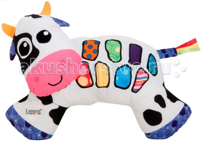 Lamaze Музыкальная короваМузыкальная короваПестрая музыкальная игрушка порадует любого малыша своими забавными мелодиями.  Кроме того, буренка выполнена из материала, очень приятного на ощупь, ушки и хвостик хрустят.   Игрушка развивает слуховое и зрительное восприятие, мелкую моторику рук малыша.   Упаковка : Коробка открытая, презентационная  Работает от 2-х батареек формата LR03 ААА 1,5 V (в комплект не входят)<br>