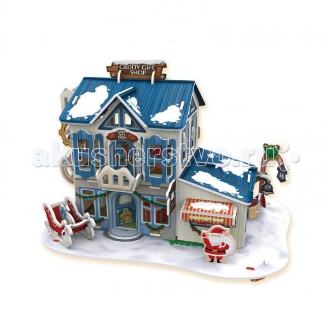 Настольная игра Рождественский домик 2 3D пазл (с подсветкой)