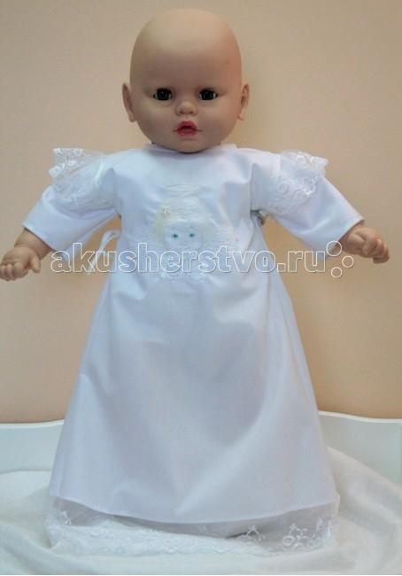 Балу Крестильное платьеКрестильное платьеСимпатичный крестильный набор, выполненный только из натуральных и нежных материалов, будет прекрасно смотреться в такой ответственный момент жизни малыша.  Размер: на 68 см  Ткань: бязь, вышивка  Упаковано в подарочную коробку.<br>