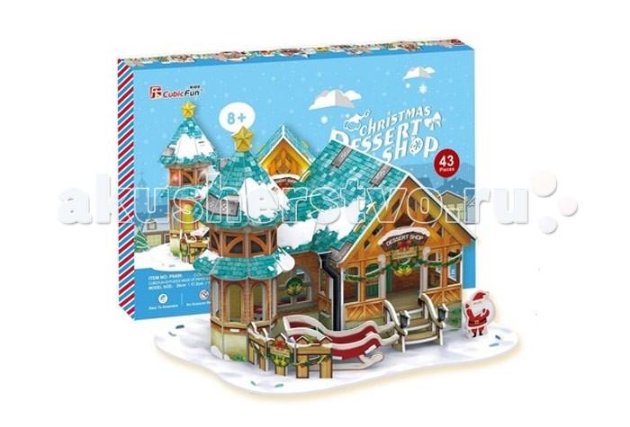 Конструктор CubicFun 3D пазлы Кубик фан Рождественский домик 3 (с подсветкой)3D пазлы Кубик фан Рождественский домик 3 (с подсветкой)CubicFun 3D пазлы Кубик фан Рождественский домик 3 (с подсветкой) станет прекрасным подарком, как ребенку, так и взрослому!   Этот замечательный пазл можно собирать всей семьей, увлекая ребенка в удивительный мир сказки и Рождества.   Домик собирается без использования клея и ножниц, делая этот конструктор уникальным.   Детали легко выдавливаются из картона и соединяются между собой с помощью специальных соединительных приспособлений.  Особенности: благодаря светодиодной подсветке, которая придает домику праздничное настроение, он станет отличным украшением интерьера детской комнаты. помогает в развитии логики и творческих способностей ребенка; помогает в формировании мышления, речи, внимания, восприятия и воображения; развивает моторику рук; расширяет кругозор ребенка и стимулирует к познанию новой информации; обучающая, яркая и реалистичная модель; идеально и легко собирается без инструментов; увлекательный игровой процесс; тематический ассортимент; новый качественный материал (ламинированный пенокартон).  Размеры: 22 х 34 х 25 см<br>