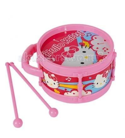 Музыкальная игрушка Simba Барабан Hello KittyБарабан Hello KittyМузыкальная игрушка Simba Барабан Hello Kitty  Малышам очень нравится барабанить палочками! Детки прислушиваются к получающимся звукам и у них постепенно развивается чувство ритма.  Инструмент изготовлен из пластмассы розовых тонов. К барабану прилагаются ударные палочки длиной 20 см. Диаметр барабана — 16 см.<br>