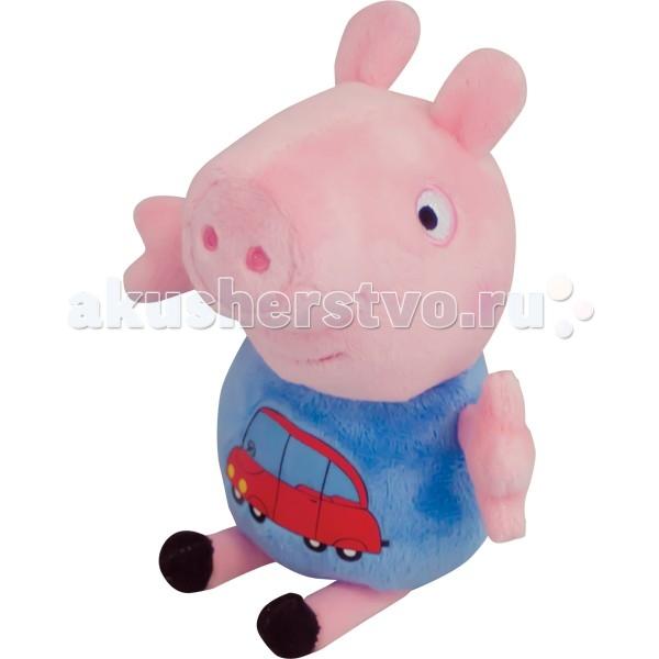 Мягкая игрушка Peppa Pig Джордж с машинкой 18 см