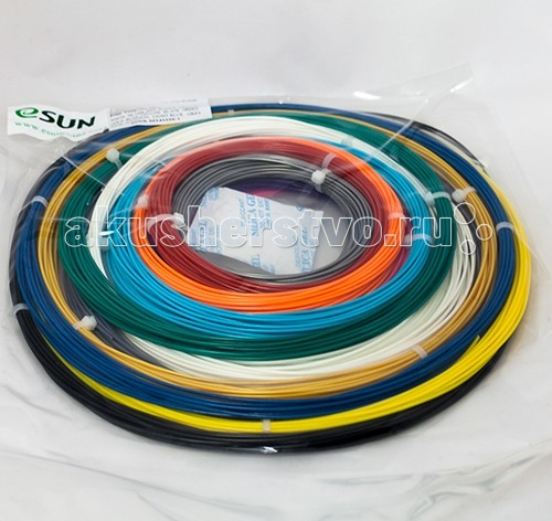 Esun Комплект PLA-пластика для 3Dручек 1.75 мм (14 цветов)