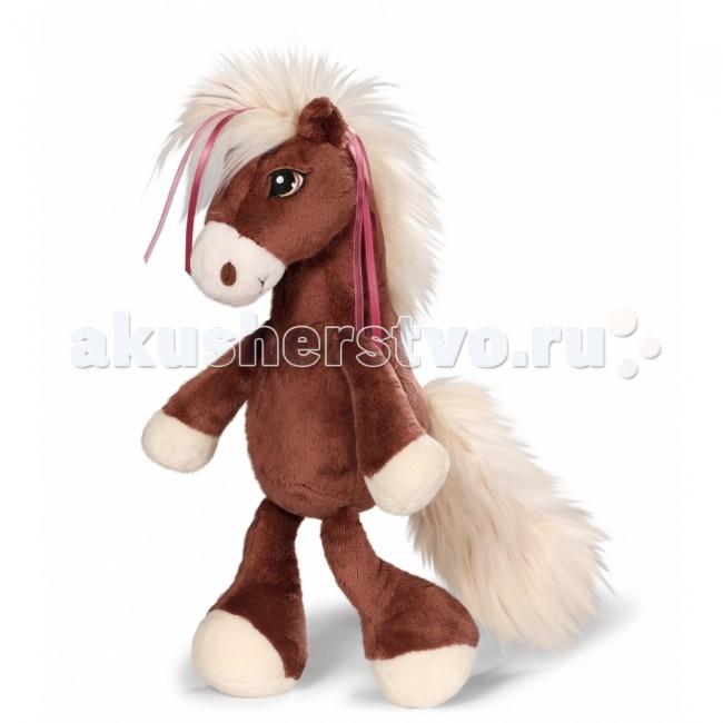 Мягкая игрушка Nici Лошадка Вельвет коричневая сидячая 35 смЛошадка Вельвет коричневая сидячая 35 смКрасавица-лошадка по имени Вельвет от немецкого производителя мягких игрушек и аксессуаров Nici выглядит как настоящая модница.   У лошадки изящная грива, в которую вплетены атласные цветные ленточки, и очень пушистый хвост.   Сама лошадка красивого «шоколадного» цвета, а мордочка и копытца у нее нежно-кремовые.   Игрушка выполнена из качественных, гипоаллергенных материалов, безопасных для ребенка.   Лошадка не потеряет внешний вид после бережной стирки.<br>