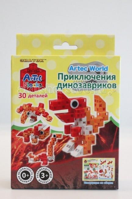 Конструктор Знаток ArTec World Приключения динозавриков 30 деталейArTec World Приключения динозавриков 30 деталейКонструктор Знаток Artec World Приключения динозавриков 30 деталей для создания разноцветных фигурок с подробной иллюстрированной инструкцией. Компактный набор, замечательно подходит для подарков друзьям. Рекомендуется для детей от 3 лет, тугое соединение.<br>