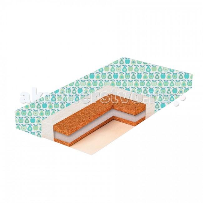 Матрас BamBola Aria Comfort 12 119х59х12Aria Comfort 12 119х59х12С первых дней жизни формирование осанки малыша напрямую зависит от правильно подобранного матраса. Матрас для детской кроватки – это основа здоровой осанки ребенка.  Производитель BamBola представляет линейку детских матрасов, с различным наполнением из современных экологически чистых материалов – что позволяет подобрать индивидуально баланс жесткости для крохи.  Матрас в кроватку Bambola Aria Comfort 12 изготовлен с использованием латексированной кокосовой койры, обладающей антиаллергическими и антибактериальными свойствами.  Состав: холлофайбер латексированная кокосовая плита синтепоновое волокно съемный чехол из бязи  Характеристики: двусторонний симметричный беспружинный  Размеры: 119х59х12 см.<br>