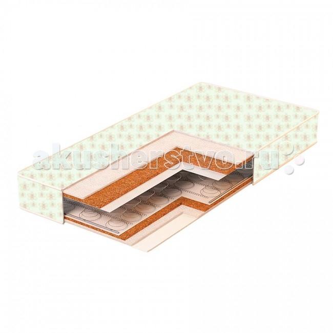 Матрас BamBola Molle Comfort 12 119х59х12Molle Comfort 12 119х59х12С первых дней жизни формирование осанки малыша напрямую зависит от правильно подобранного матраса. Матрас для детской кроватки – это основа здоровой осанки ребенка.  Производитель BamBola представляет линейку детских матрасов, с различным наполнением из современных экологически чистых материалов – что позволяет подобрать индивидуально баланс жесткости для крохи.  Матрас в кроватку Bambola Molle Comfort 12 изготовлен на базе пружинного блока типа Боннель с использованием латексированной кокосовой койры, обладающей антиаллергическими и антибактериальными свойствами.  Состав: пружинный блок латексированная кокосовая плита синтепоновое волокно съемный чехол из бязи  Характеристики: двусторонний симметричный пружинный блок  Размеры: 119х59х12 см.<br>
