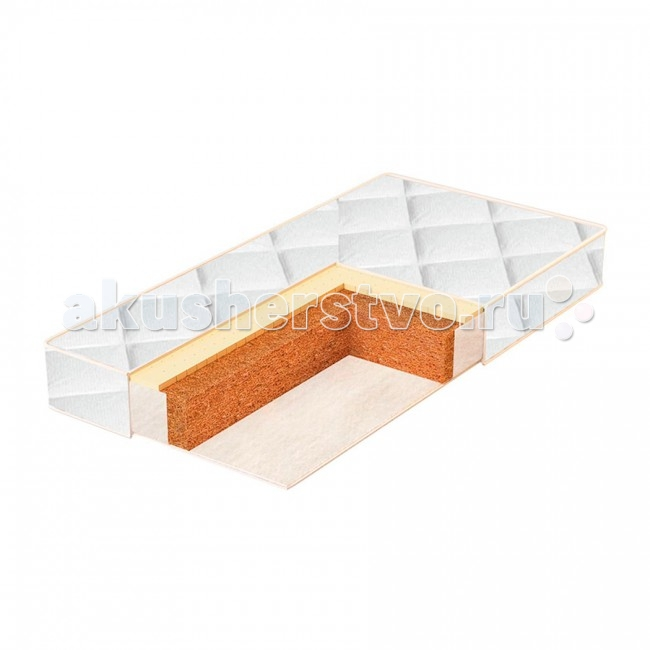 BamBola Чехол на матрас Coir Luxe 120х60х12