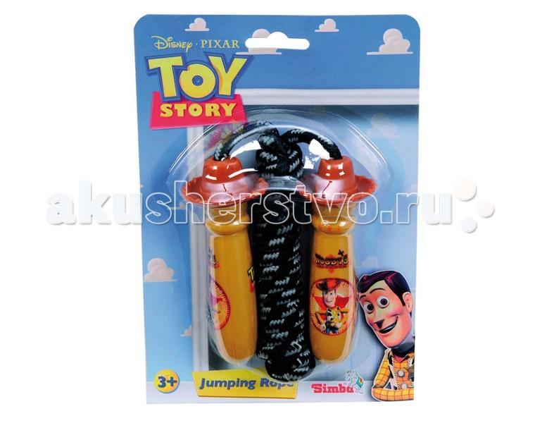 Simba Скакалка Той СториСкакалка Той СториСкакалка Simba Той Стори  Данная скакалка станет отличным подарком для малышей. Скакалка выполнена с пластиковыми ручками, в которые нужно всунуть руки и можно прыгать.  Длина: 200 см<br>
