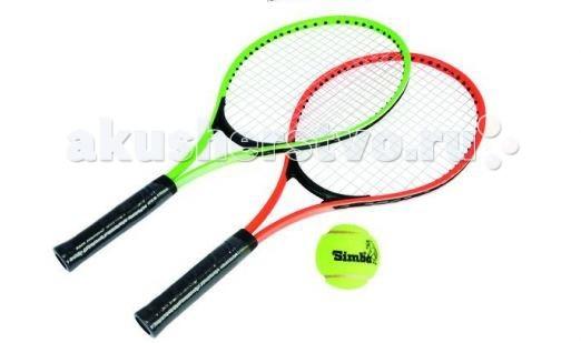Simba Набор для игры в теннисНабор для игры в теннисНабор для игры в теннис Simba   В наборе:    2 алюминиевые ракетки 52см  1 мяч  чехол<br>