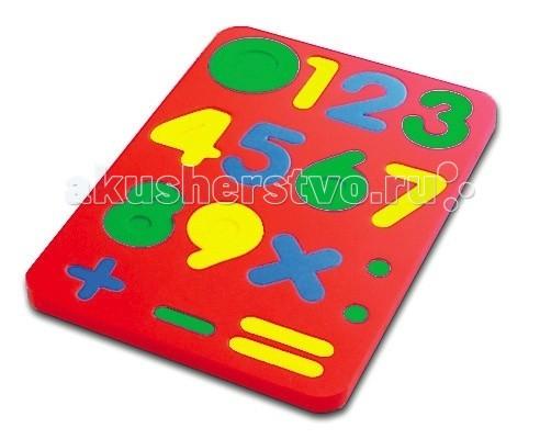 Бомик ЦифрыЦифрыБомик Цифры. Мягкий пазл из разноцветных деталей, собранных в фигурную рамку мягкого прямоугольного листа.   Игра нацелена на развитие творческих мыслительных способностей ребенка. Знакомит ребёнка с цифрами, развивает внимание, пространственные представления и навыки счёта.<br>