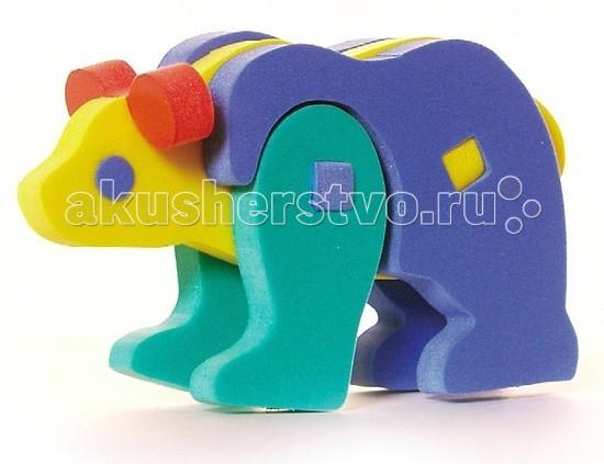 Конструктор Бомик Объемный МедведьОбъемный МедведьКонструктор Бомик Объемный Медведь. Милый, добрый, мягкий медвежонок получается при сборке объемного конструктора Медведь с разноцветными деталями.  Особенности: изготовлен из мягкого, прочного, нетоксичного, абсолютно безопасного вспененного полимера детали имеют закругленные края детали соединяются при помощи винтовых крепежей детали яркие, разноцветные, используются основные цвета: красный, желтый, зеленый, синий помогает выучить основные цвета с данным набором ребенок сможет самостоятельно собрать симпатичного мягкого медвежонка в набор входят детали лап, головы, тела, ушей развивает мелкую моторику, координацию, учит соотносить форму и размер предназначен для детей от 3 лет.<br>