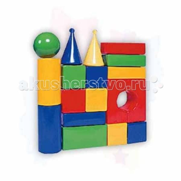 Развивающая игрушка СВСД Строительный набор Стена (18 элементов)Строительный набор Стена (18 элементов)СВСД Строительный набор Стена из крупных геометрических фигур для конструирования.   Особенности: Содержит 18 строительных элементов, с помощью которых Ваш ребёнок сможет построить более сложные фигуры.  Одинаково хорошо подходит для индивидуальных и совместных игр.  Развивает цветовосприятие и созидательность, прививает способность логически мыслить, учит усидчивости и желанию довести начатое дело до конца.  Построив из набора дом, замок или крепость, его можно комбинировать с другими, более мелкими игрушками.  Размеры деталей: 90 мм.<br>