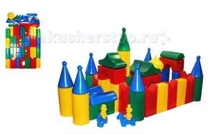 Развивающая игрушка СВСД Строительный набор КремльСтроительный набор КремльСВСД Строительный набор Кремль из крупных геометрических фигур для конструирования.   Особенности: Содержит 55 строительных элементов + 4 фигуры в подарок, с помощью которых Ваш ребёнок сможет построить более сложные фигуры.  Одинаково хорошо подходит для индивидуальных и совместных игр.  Развивает цветовосприятие и созидательность, прививает способность логически мыслить, учит усидчивости и желанию довести начатое дело до конца.  Построив из набора дом, замок или крепость, его можно комбинировать с другими, более мелкими игрушками.  Размеры деталей: 90 мм.<br>