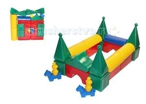 Развивающая игрушка СВСД Строительный набор Постоялый дворСтроительный набор Постоялый дворСВСД Строительный набор Постоялый двор из крупных геометрических фигур для конструирования.   Особенности: Содержит 20 строительных элементов + 4 фигуры в подарок, с помощью которых Ваш ребёнок сможет построить более сложные фигуры.  Одинаково хорошо подходит для индивидуальных и совместных игр.  Развивает цветовосприятие и созидательность, прививает способность логически мыслить, учит усидчивости и желанию довести начатое дело до конца.  Построив из набора дом, замок или крепость, его можно комбинировать с другими, более мелкими игрушками.  Размеры деталей: 90 мм.<br>
