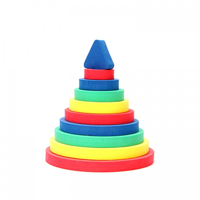 Развивающая игрушка Бомик Пирамида КругПирамида КругРазвивающая игрушка Бомик Пирамида Круг. Игрушка Пирамида Круг включает в себя рамку-основание и вкладыши в нее: 9 кружков разного размера, стержень, треугольную верхушку пирамидки, надевающуюся на стержень.   Игрушка интересна тем, что представляет собой сразу два незаменимых дидактических материала для детей: пирамидку и вкладыши.    Кроме того, игрушку можно использовать как шнуровку, нанизывая круги на любую веревочку.<br>