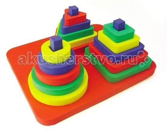 Развивающая игрушка Бомик Пирамида Набор 3 в 1