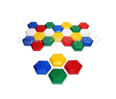 СВСД Объёмная мозаика 20 шт.Объёмная мозаика 20 шт.СВСД Объёмная мозаика из 20-ти одинаковых элементов в виде шестигранников.   Особенности: Фигуру можно выкладывать, приставляя одну грань шестигранника к другой. Нужный орнамент достигается комбинацией разноцветных элементов.  Диаметр одного шестигранника 98 мм.<br>