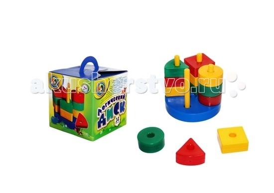 СВСД Развивающая игра Логический диск (14 элементов)Развивающая игра Логический диск (14 элементов)СВСД Развивающая игра Логический диск состоит из основания-круга, 4-х держателей и 9-ти разноцветных геометрических фигур - кругов, квадратов и треугольников.<br>