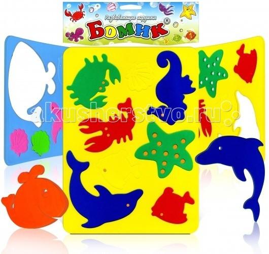 Бомик Аква ОкеанАква ОкеанБомик Аква Океан. Замечательные игрушки для купания. Яркие, красочные фигурки рыбок и морских животных не только плавают, но и прилипают в намоченном виде на кафель, стенки ванной и другую гладкую поверхность.   Возможность сюжетной увлекательной игры сделает процесс купания еще приятнее.   Можно играть и не в воде и использовать как трафареты.<br>