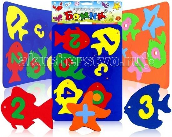 Бомик Игрушка для купания Аква Рыбки-ЦифрыИгрушка для купания Аква Рыбки-ЦифрыБомик Аква Рыбки-Цифры. Замечательные игрушки для купания. Яркие, красочные фигурки рыбок, морских животных и цифры, знаки не только плавают, но и прилипают в намоченном виде на кафель, стенки ванной и другую гладкую поверхность.   Возможность сюжетной увлекательной игры сделает процесс купания еще приятнее.   Можно играть и не в воде и использовать как трафареты.<br>