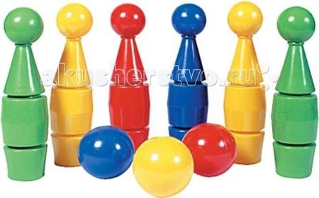 СВСД Кегли (6 кегель + 3 шара)Кегли (6 кегель + 3 шара)СВСД Кегли (6 кегель + 3 шара)   В комплекте шесть кеглей (высота 315 мм) и три шара (диаметр 90 мм).<br>