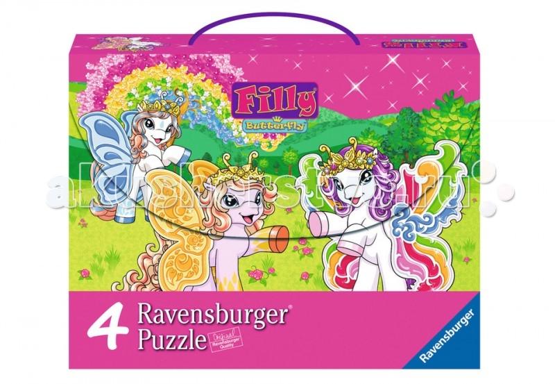 Ravensburger Пазл 4 в 1 Филли Бабочки 2x64 элементов и 2x81 элементов
