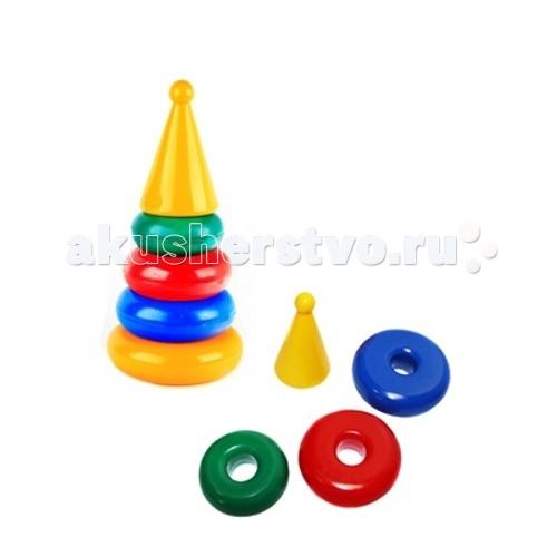 Развивающая игрушка СВСД Пирамидка маленькая КонусПирамидка маленькая КонусСВСД Пирамидка маленькая Конус - это настоящее дидактическое пособие для малышей и тренажер для развития мелкой моторики и координации движений рук.   Особенности: В процессе игры ребенок знакомится с разными цветами и размерами предметов, учится соотносить и сравнивать предметы по этим признакам.  С помощью пирамидки можно освоить устный порядковый счет. В комплекте основание пирамидки, 4 разноцветных колец. Изготовлено из высококачественной пластмассы. Диаметр основания 155 мм. Высота 320 мм.<br>