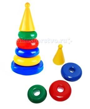 Развивающая игрушка СВСД Пирамидка-качалка Квадрат Конус