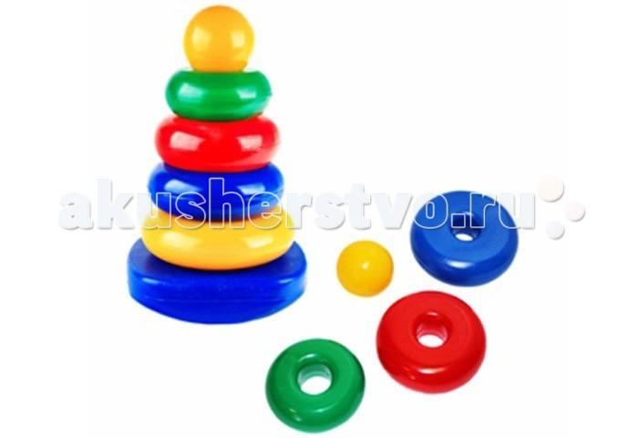Развивающая игрушка СВСД Пирамидка-качалка Круг
