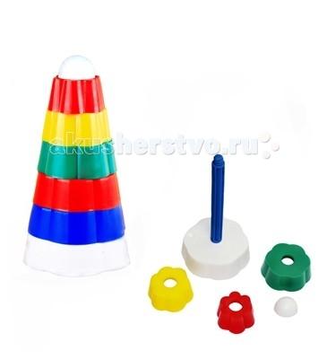 Развивающая игрушка СВСД Пирамидка Цветок 2 в 1Пирамидка Цветок 2 в 1СВСД Пирамидка Цветок 2 в 1 - это настоящее дидактическое пособие для малышей и тренажер для развития мелкой моторики и координации движений рук.   Особенности: Элементы которой можно использовать как по прямому назначению, так и в качестве формочек для песка.  В процессе игры ребенок знакомится с разными цветами и размерами предметов, учится соотносить и сравнивать предметы по этим признакам.  С помощью пирамидки можно освоить устный порядковый счет. В комплекте основание пирамидки, 5 разноцветных колец. Изготовлено из высококачественной пластмассы. Высота 182 мм. Диаметр основания 95 мм.<br>