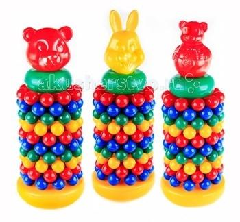 Развивающая игрушка СВСД Пирамидка с шарами МультикПирамидка с шарами МультикСВСД Пирамидка с шарами Мультик - это настоящее дидактическое пособие для малышей и тренажер для развития мелкой моторики и координации движений рук.   Особенности: Состоит из цветных колец оригинальной формы в виде нанизанных друг за другом шариков диаметром 30 мм.  Завершают пирамидку фигурки мульт-героев.  В процессе игры ребенок знакомится с разными цветами и размерами предметов, учится соотносить и сравнивать предметы по этим признакам.  С помощью пирамидки можно освоить устный порядковый счет. В комплекте основание пирамидки, 10 разноцветных колец. Изготовлено из высококачественной пластмассы. Высота пирамидки 460 мм. Диаметр основания 155 мм.   Цвета в ассортименте<br>
