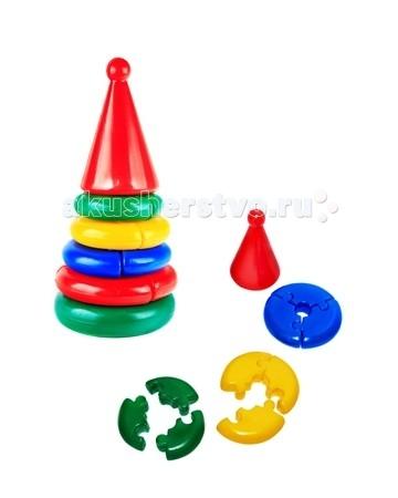 Развивающая игрушка СВСД Пирамидка Логика мини КонусПирамидка Логика мини КонусСВСД Пирамидка Логика мини Конус - это настоящее дидактическое пособие для малышей и тренажер для развития мелкой моторики и координации движений рук.   Особенности: Состоит из основания, 4-х колец, собирающихся по принципу пазлов, держателя и шарика на вершине.  В процессе игры ребенок знакомится с разными цветами и размерами предметов, учится соотносить и сравнивать предметы по этим признакам.  С помощью пирамидки можно освоить устный порядковый счет. В комплекте основание пирамидки, 4 разноцветных кольца. Изготовлено из высококачественной пластмассы. Высота 290 мм.<br>