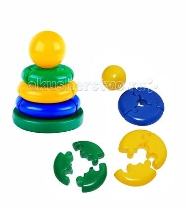 Развивающая игрушка СВСД Пирамидка Логика кроха ШарПирамидка Логика кроха ШарСВСД Пирамидка Логика кроха Шар - это настоящее дидактическое пособие для малышей и тренажер для развития мелкой моторики и координации движений рук.   Особенности: Состоит из основания, 3-х колец, собирающихся по принципу пазлов, держателя и шарика на вершине.  В процессе игры ребенок знакомится с разными цветами и размерами предметов, учится соотносить и сравнивать предметы по этим признакам.  С помощью пирамидки можно освоить устный порядковый счет. В комплекте основание пирамидки, 3 разноцветных колец. Изготовлено из высококачественной пластмассы. Диаметр основания 155 мм. Высота 175 мм.<br>