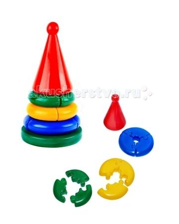 Развивающая игрушка СВСД Пирамидка Логика кроха КонусПирамидка Логика кроха КонусСВСД Пирамидка Логика кроха Конус - это настоящее дидактическое пособие для малышей и тренажер для развития мелкой моторики и координации движений рук.   Особенности: Состоит из основания, 3-х колец, собирающихся по принципу пазлов, держателя и шарика на вершине.  В процессе игры ребенок знакомится с разными цветами и размерами предметов, учится соотносить и сравнивать предметы по этим признакам.  С помощью пирамидки можно освоить устный порядковый счет. В комплекте основание пирамидки, 3 разноцветных колец. Изготовлено из высококачественной пластмассы. Диаметр основания 155 мм. Высота 250 мм.<br>