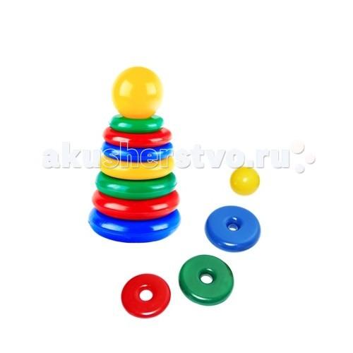 Развивающая игрушка СВСД Пирамидка СпутникПирамидка СпутникСВСД Пирамидка Спутник - это настоящее дидактическое пособие для малышей и тренажер для развития мелкой моторики и координации движений рук.   Особенности: Кольца этой пирамидки отличаются не только диаметром, но и толщиной: чем меньше диаметр, тем тоньше кольцо. Состоит из основания, 6 колец В процессе игры ребенок знакомится с разными цветами и размерами предметов, учится соотносить и сравнивать предметы по этим признакам.  С помощью пирамидки можно освоить устный порядковый счет. Изготовлено из высококачественной пластмассы. Высота 220 мм.<br>