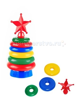 Развивающая игрушка СВСД Пирамидка ЗвездаПирамидка ЗвездаСВСД Пирамидка Звезда - это настоящее дидактическое пособие для малышей и тренажер для развития мелкой моторики и координации движений рук.   Особенности: Состоит из основания, держателя, 6 колец и наконечника в виде пятиконечной звезды.  Кольца различаются не только диаметром, но и толщиной: чем меньше диаметр, тем тоньше кольцо. Состоит из основания, 6 колец В процессе игры ребенок знакомится с разными цветами и размерами предметов, учится соотносить и сравнивать предметы по этим признакам.  С помощью пирамидки можно освоить устный порядковый счет. Изготовлено из высококачественной пластмассы. Высота 240 мм.<br>