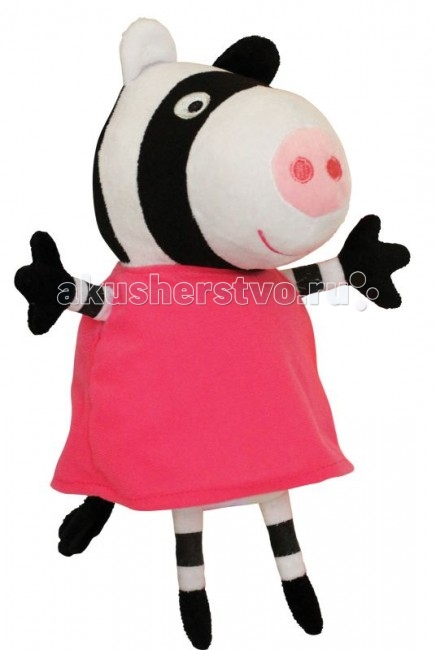 Мягкая игрушка Peppa Pig Зебра Зои 20 см